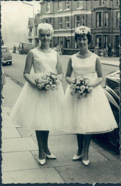 Mum and her sister - bridesmaids to Uncle Norman's wedding